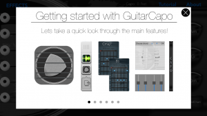 GuitarCapo+ Tutorial Screen